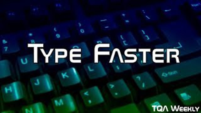 This week, learn why touch typing and using a comfortable keyboard correctly can make you type faster.