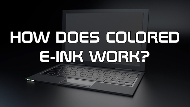Steve Smith answers the question on how colored e-ink works.